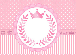 Para hacer invitaciones, tarjetas, marcos de fotos o etiquetas, para imprimir gratis de Corona Rosada.