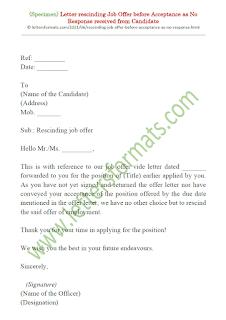 rescinding job offer letter sample from employer