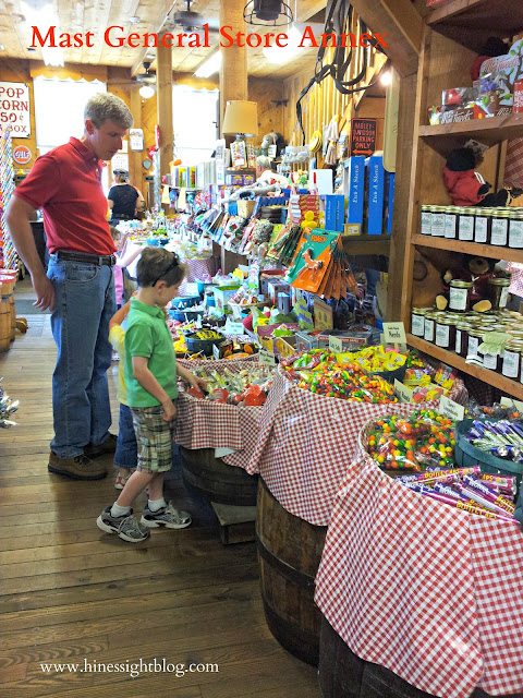 Tons of Candy can be found at Mast General Store in Valle Crucis, N.C.
