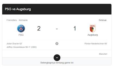 Hasil Terkini PSG Vs Augsburg