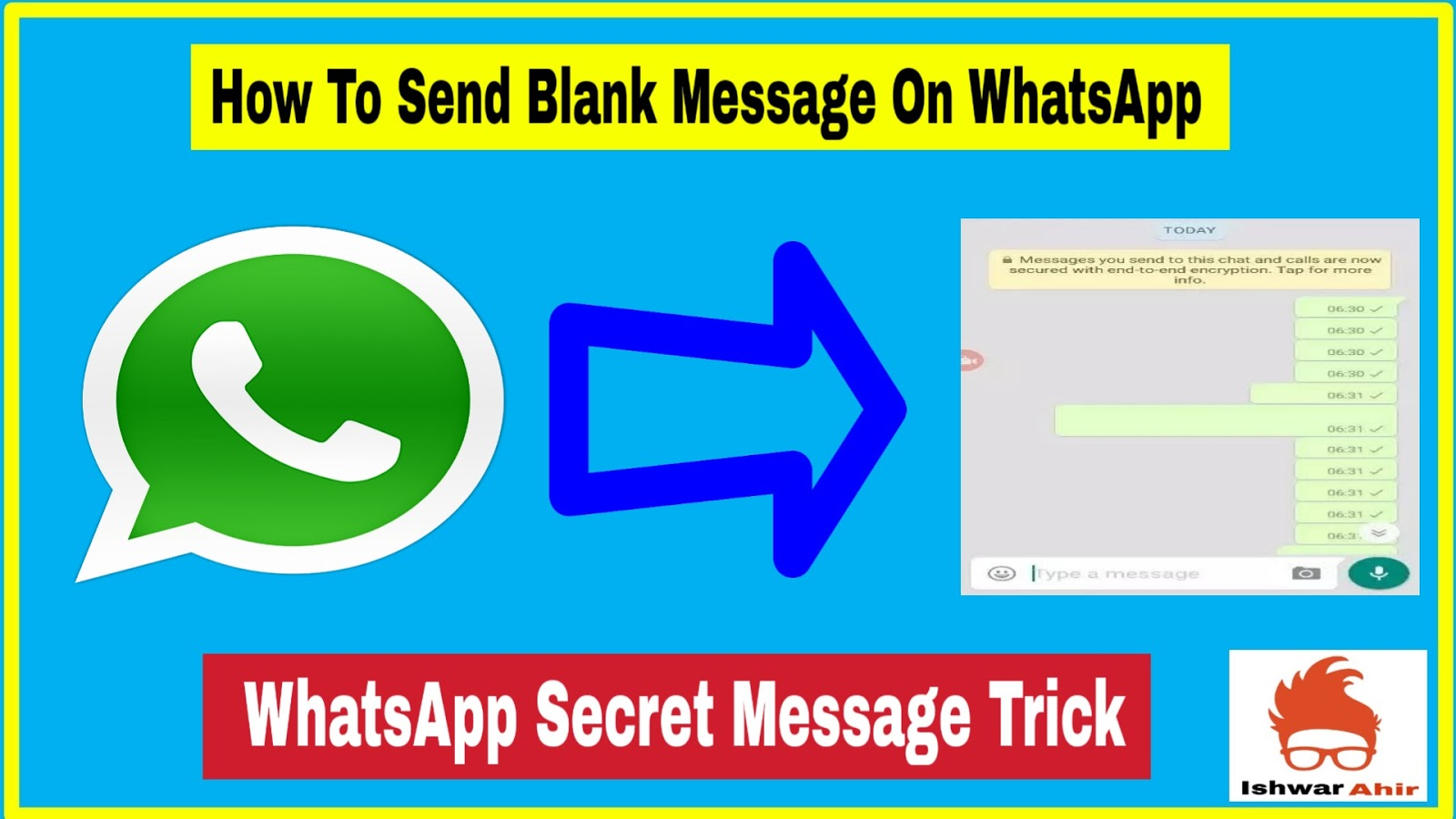 How to Send Blank Massege on Whatsapp