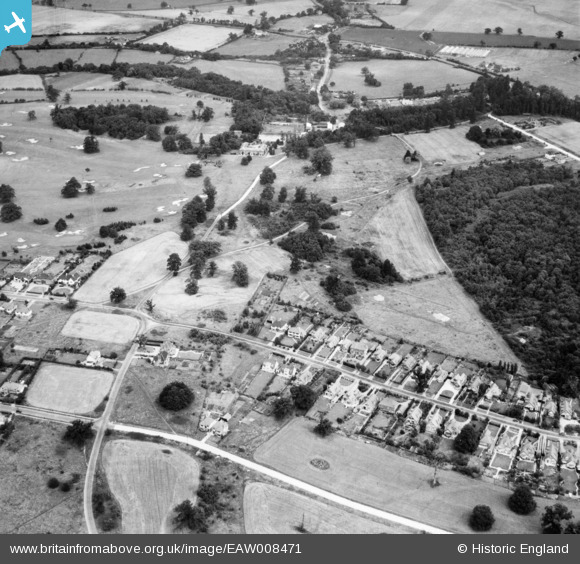 Photograph of George's Wood Road and Golf Club Road, Brookmans Park, 1947