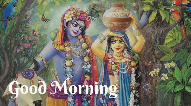 radha krishna good morning images hd
