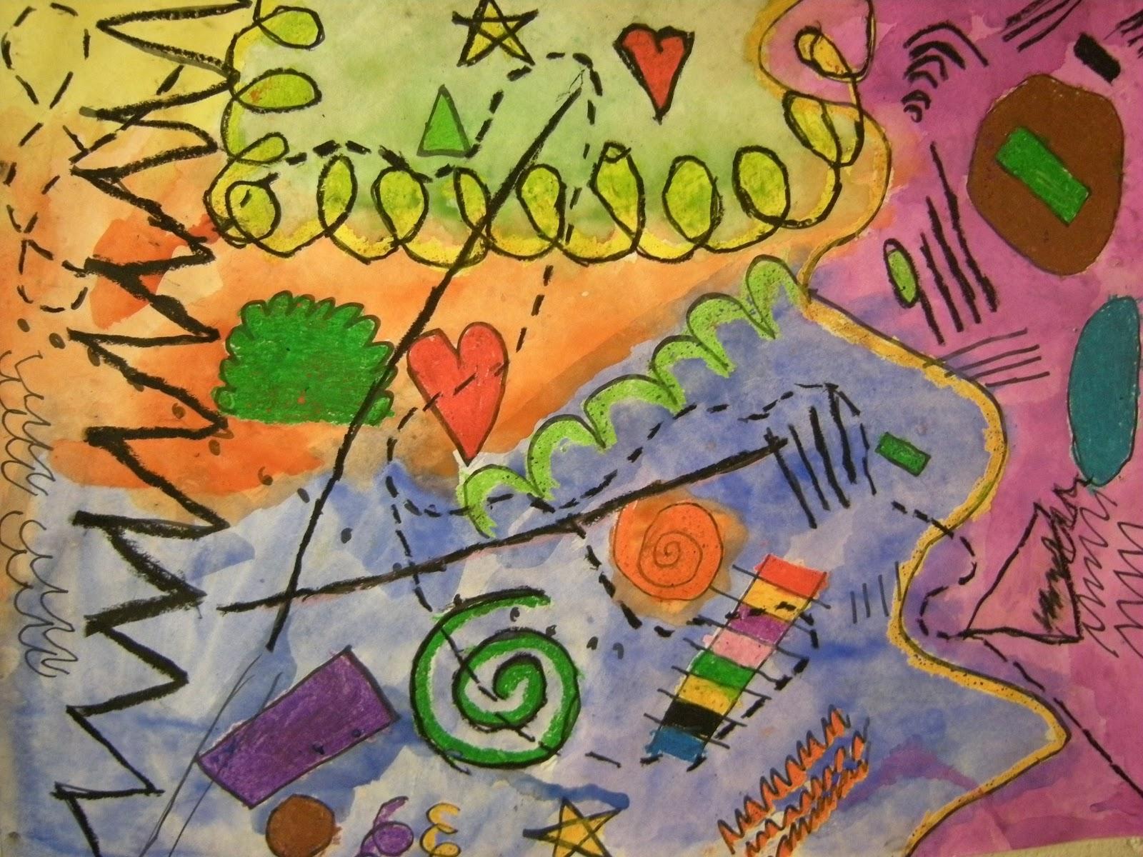 What S Happening In The Art Room 1st Grade Kandinsky
