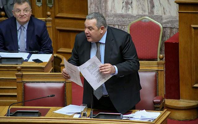 Άρνηση Καμμένου να δηλώσει στη βουλή ευθέως ότι στηρίζει την κυβέρνηση
