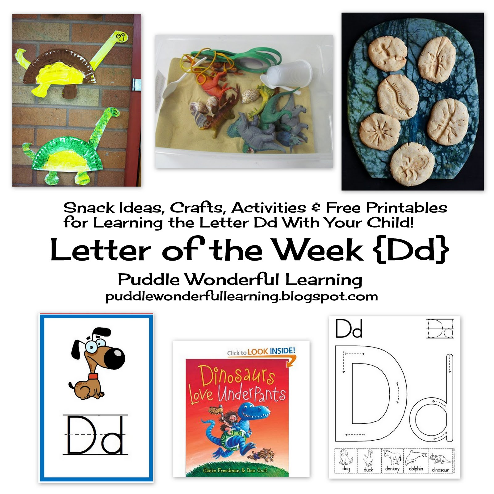 Puddle Wonderful Learning Preschool Activities Letter Of The Week Dd