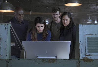 Paterson Joseph, Sakina Japery, Clauda Doumit and Matt Lanter in Timeless Season 2
