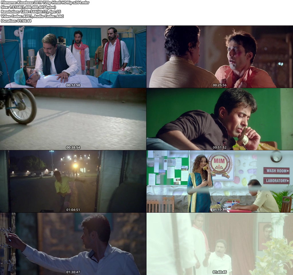 Kissebaaz 2019 720p Hindi HDRip x264 | 480p 300MB | 100MB HEVC Screenshot