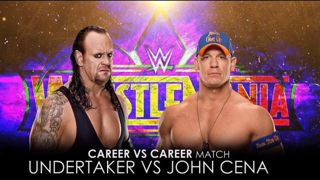 The Undertaker vs John Cena at wrestlemania 2018 career vs career match