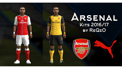 PES 2013 Arsenal London 2016/2017 kits by reqzo
