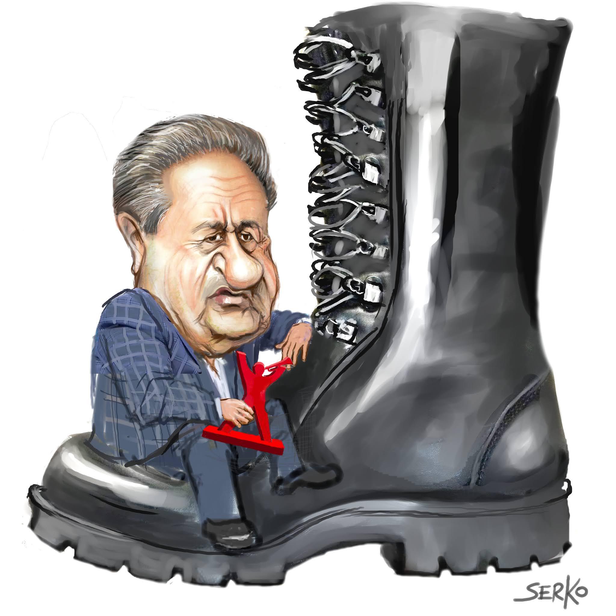 "serko caricaturas: Eduardo Duhalde ""golpe"""