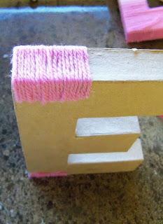 Proceso del adorno de una Letra 3D con lanas