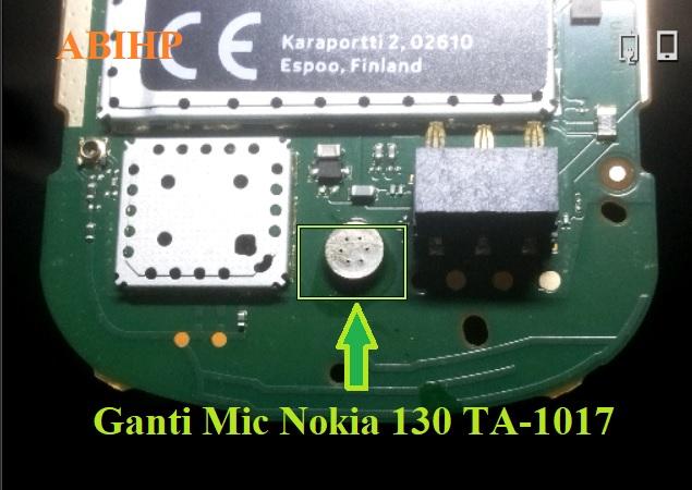 Inilah mic yang harus diganti kalau tidak kedengaran saat nelpon Nokia 130.