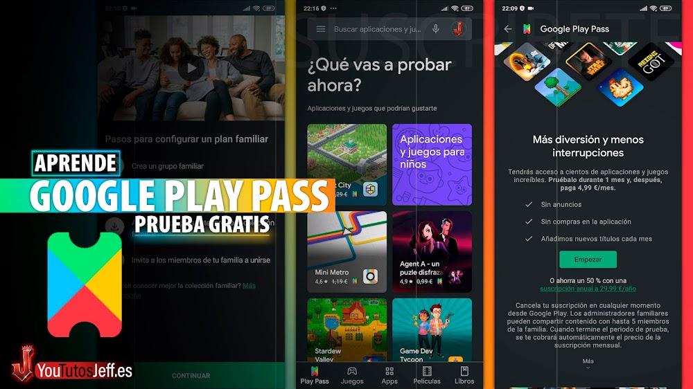 Como Probar Google Play Pass Juegos y Apps PREMIUM GRATIS