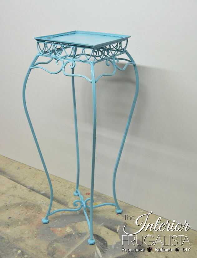Plant Stand Table After White Glaze