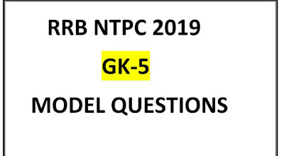 RRB NTPC STUDY MATERIAL GK-5