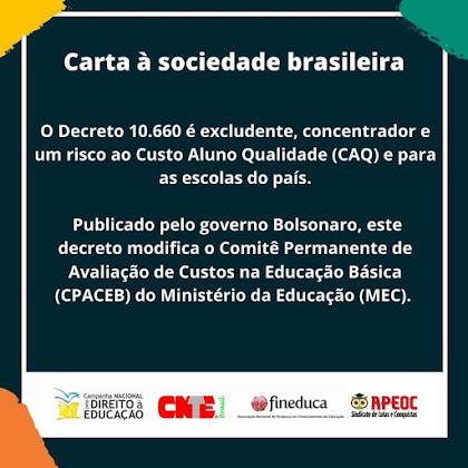 APEOC - CARTA À SOCIEDADE BRASILEIRA