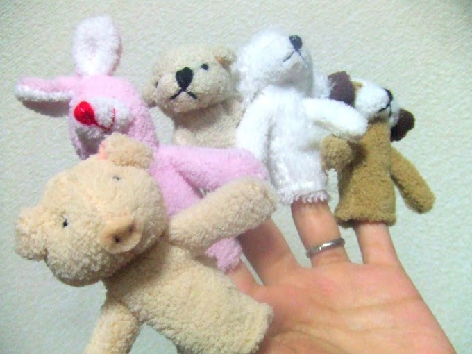 028 #ウサギ #イヌ #ブタ #クマ #指人形