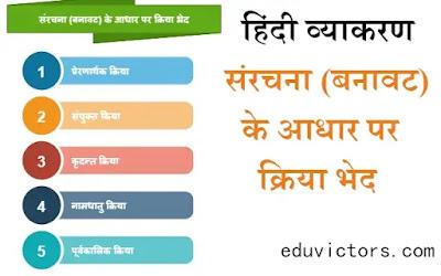 कक्षा १० / ९ - हिंदी व्याकरण - संरचना (बनावट) के आधार पर क्रिया भेद - class 10 - Hindi Grammar - Kriya (#class10Hindi)(#eduvictors)(#cbse2020)