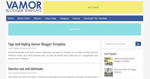 Vamor Blogger Template