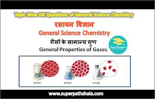 गैसों के सामान्य गुण GK Questions Set 2