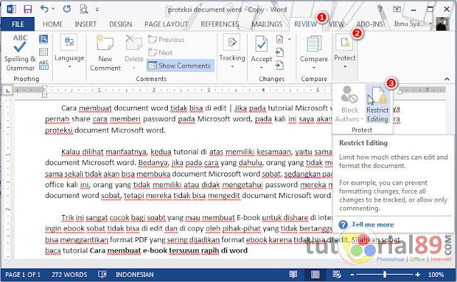 Cara membuat document word tidak bisa di edit