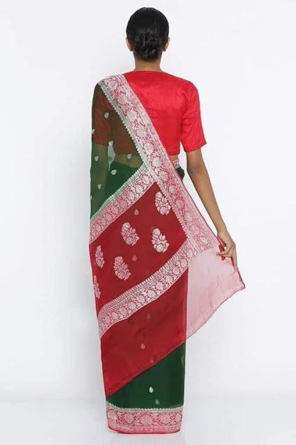 Pure Georgette Chiffon khaddi silver buti sarees