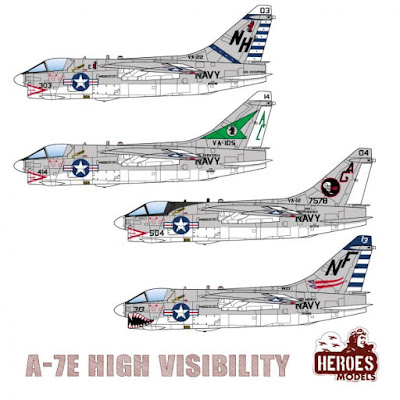 1/144 DECALS – A-7E High Visibility