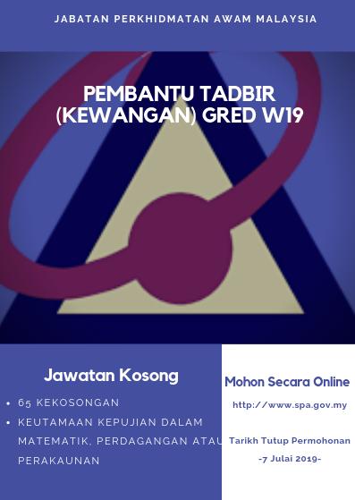 Jawatan Kosong Di Jabatan Perkhidmatan Awam Malaysia 2019