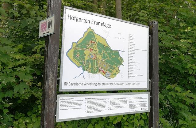 Eremitage Bayreuth - Plan und Wegenetz