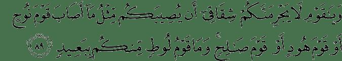 Surat Hud Ayat 89