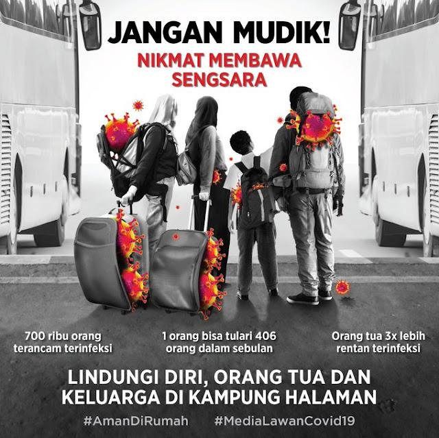 Poster Jangan Mudik untuk Cegah COVID-19