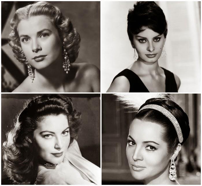 la belleza natural de las actrices de los 50