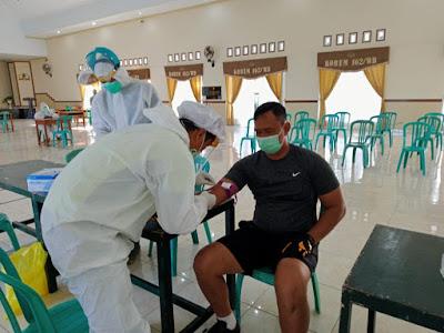 Korem 162/WB Gelar Rapid Test Bagi Seluruh Personel Makorem