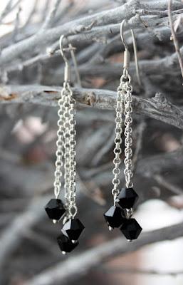 Kristalli, korvakorut, hopeakorvakorut, kristallokorvakorut