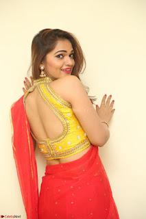 Actress Ashwini in Golden choli Red saree Spicy Pics ~  094.JPG
