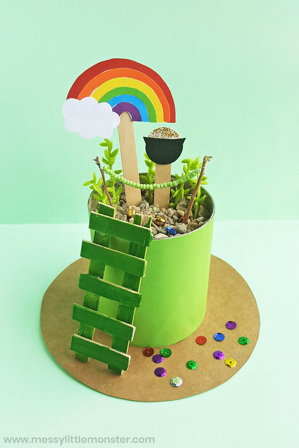 How to build a leprechaun trap as a St Patricks day craft for kids.