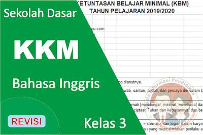 Download KKM Bahasa Inggris Kelas 3 K13 Semester 1