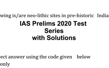 UPSC Prelims 2020 Test Series With Solution PDF Download in