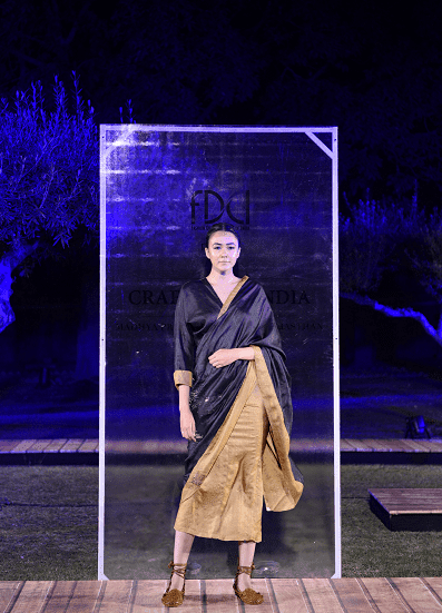 Swati Kalsi at FDCI presents Crafted in India, representing Madhya Pradesh.