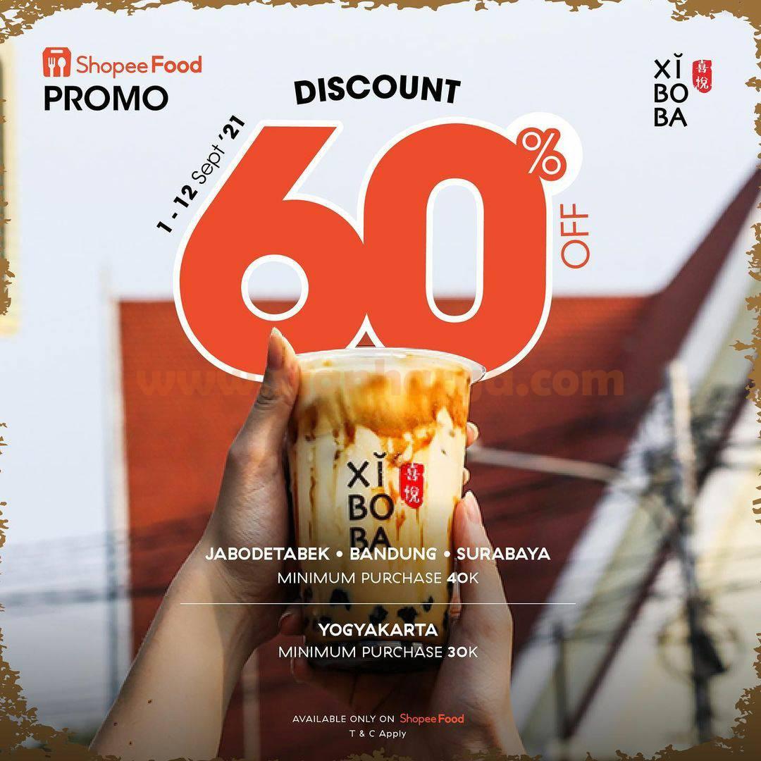 Promo XIBOBA DISKON hingga 60% via ShopeeFood