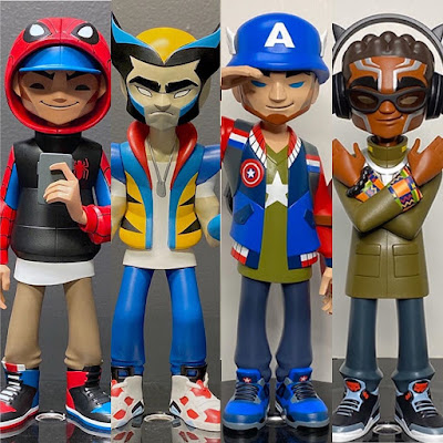 "Marvel Comics x kaNO ""Heroes"" Vinyl Figure Collection by Unruly Industries"