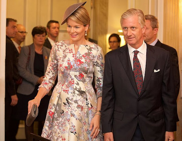 Queen Mathilde of Belgium and King Philippe visited Frankfurt, Germany, for the opening day of 'Frankfurter Buchmesse' book fair. Belgian Royals and Dutch Royals at the Frankfurter Buchmesse
