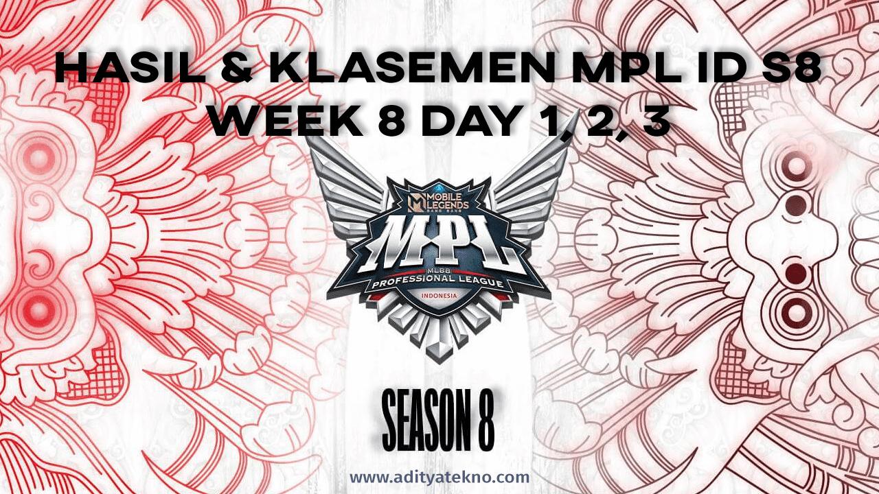 Hasil dan Klasemen MPL ID Season 8 Week 8: EVOS Legends Tekuk RRQ Hoshi, Onic Esports Juara Regular Season