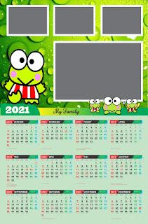 Desain Kalender Dinding 2021 CDR