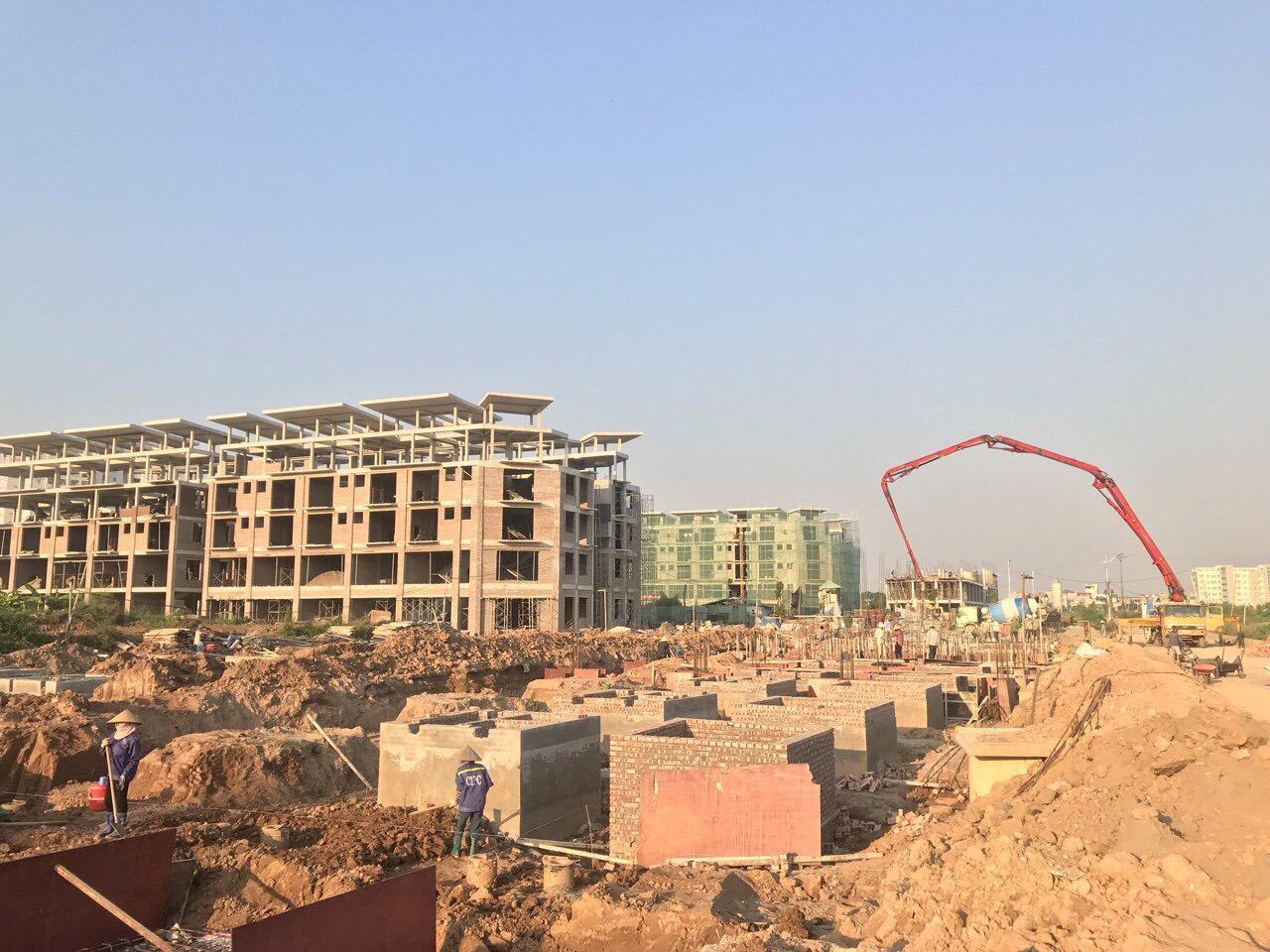 Công trường dự án Khai Sơn City