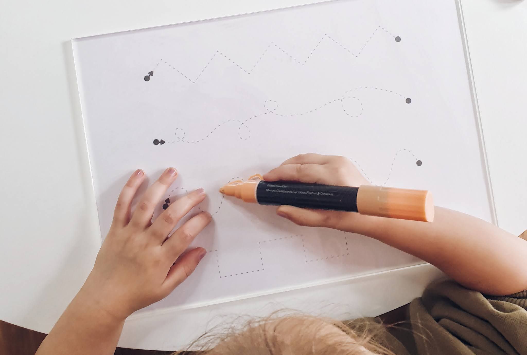 DIY Toddler Learn & Trace Board