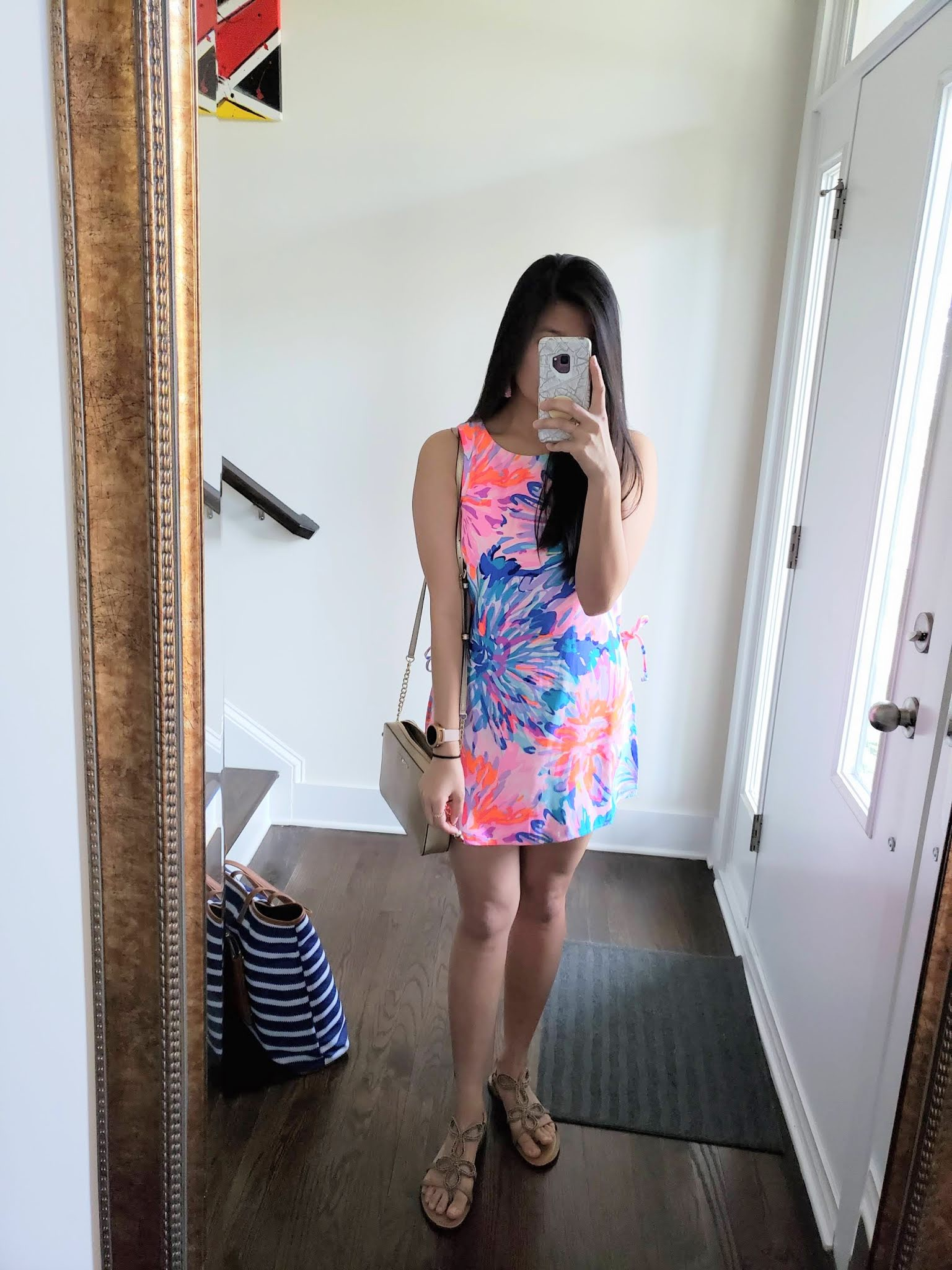 Lilly Pulitzer Donna Romper in Multi Off Tropic