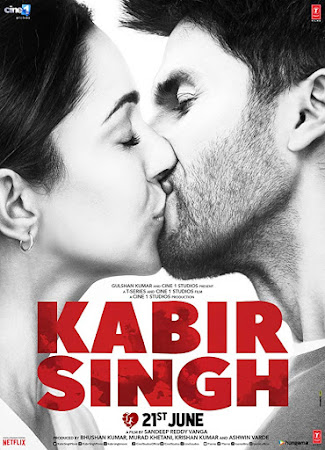 Poster Of Bollywood Movie Kabir Singh 2019 300MB Pdvd Full Hindi Movie