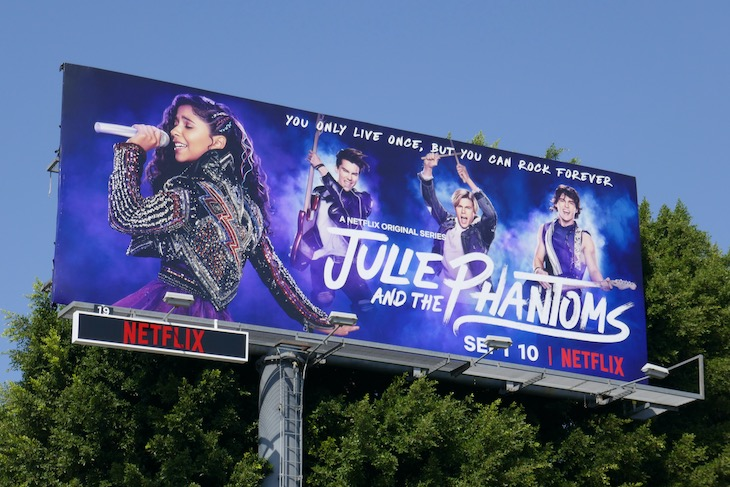 Julie and Phantoms series launch billboard